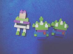 ディズニーで買ったナノブロックH氏と組み立てた🌎🚀 #disney#buzzlightyear#littlegreenman#nano#nanoblock#toystory#toy