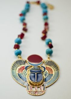 Reminds me of the scarab bracelets we wore when we were girls.