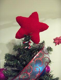Free Crochet Pattern - Christmas Star Tree Topper