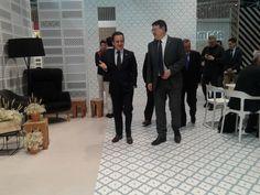 Visita del Presidente de la Generalitat, Ximo Puig al stand de Vives Azulejos y Gres en Cevisama 2016