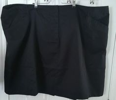 NEW LANDS END WOMENS PLUS SIZE 34W 4x Cotton blend Black SKIRT   | eBay