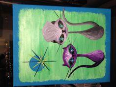 birthday painting for a good friend. acrylic canvas