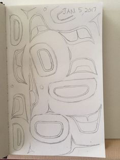 Tlingit Art Daily Sketch January 5 - Combining Formline Elements - Tlingit Me Native Style, Native Art, Native American Art, Haida Tattoo, Mustang Logo, Sketch Box, Inuit Art, Tlingit, Indigenous Art