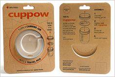 CUPPOW! A Plastic Lid That Turns Mason Jars Into Travel mugs.