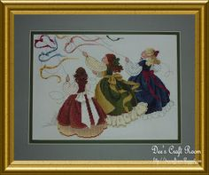 Butternut Road counted cross-stitch pattern by Marilyn Leavitt-Imblum, entitled 'Catch the Wind'.