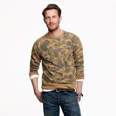 Wallace & Barnes camo sweatshirt