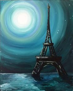 Paris Moon - Sarasota, FL Painting Class - Painting with a Twist