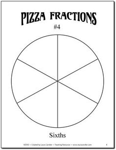 Pizza Fraction Fun Freebie from Laura Candler - hands-on activity to introduce equivalent fractions