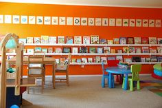 """Bookshelves made of raingutters. I'd love to have the wall space and the """"handygirl"""" talents to do this!"""