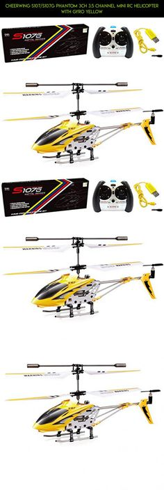 Cheerwing S107/S107G Phantom 3CH 3.5 Channel Mini RC Helicopter with Gyro Yellow #shopping #tech #plans #racing #camera #syma #drone #kit #fpv #technology #helicopter #products #gadgets #parts #rc