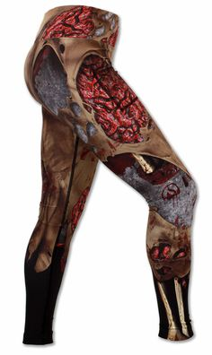 Women's Zombie Tights Right Side View Waistband Up