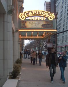 Salt Lake City, Utah's famous Capitol Theatre plays host to the Utah Opera and is a part of the exciting Utah night scene.    Photo by Donna M. Brown, Copyright © 2010 YourContentQueen.com