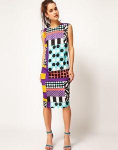 ASOS Midi Dress in Rocco Print