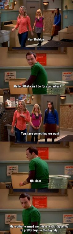 "Hahaha! You can't help but  like ""The Big Bang Theory.""  Sheldon is the best!!!!"