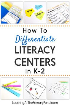Need some easy ways to differentiate your literacy centers? Read this post for ideas for kindergarten, first grade, and second grade!