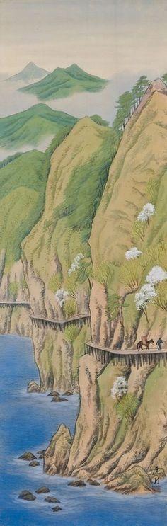 Pathway in Spring by IKEDA Yoson (1895~1988), Japan (via Beautiful Japanese Style / Pathway in Spring by IKEDA Yoson (1895~1988), Japan)