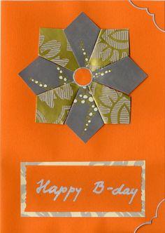 Teabag folding, Birthday Greeting Card