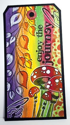 TOO MANY OPTIONS: I DON'T KNOW WHICH BOARD TO POST THIS ON! From Eileen Godwin: PanPastels meet Tim Holtz meet Dylusions Stamps.  What fun!