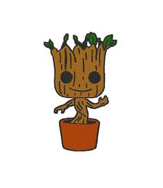 This file is an image of Baby Groot in the pot from the popular movie Guardians of the Galaxy.  I?ve been using this particular design for…