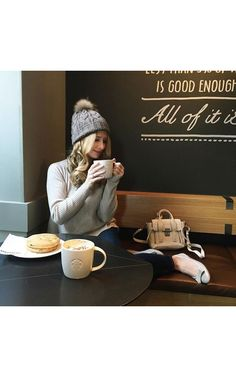 Rib knit pullover by @repeatcashmere     #cosy #winter #cashmeresweater #cashmere #sweater #coffeebreak #coffee