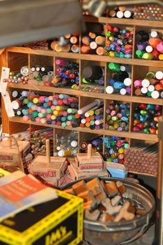 Art Storage Ideas Artist Studios Colored Pencils Ideas For 2019 Art Storage, Craft Room Storage, Storage Ideas, Marker Storage, Craft Rooms, Tool Storage, Bathroom Storage, Art Studio At Home, Home Art