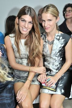 Bianca Brandolini d'Adda and Eugenie Niarchos Front Row at Giambattista Valli  [Photo by Stéphane Feugère]