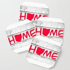 Ohio State Home Pride Wood Print Coaster