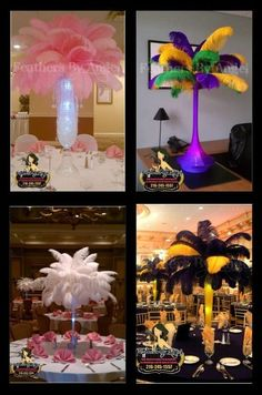 feather centerpieces   Feathers By Angel's Blog