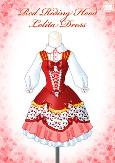 Red Riding Hood Lolita Dress by Neko-Vi.deviantart.com on @DeviantArt