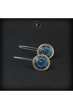 Circles Gold Ocean Mandala - earrings