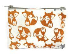 Doppelgänger Fox Zipper Pouch / Camera Bag in by thepurplehedgehog