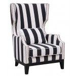 Classic Home Furniture - Alice Club Chair in Striped - 53006885