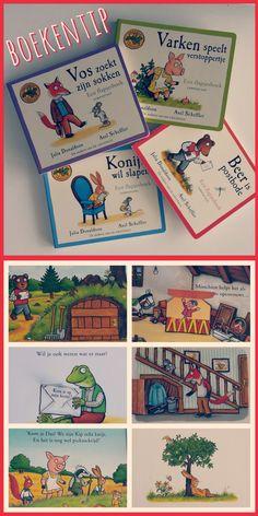 Boekentip: kartonboekjes over de avonturen in het Eikenbos, van de makers van de Gruffalo #leukmetkids #kinderboeken