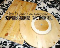 diy/decor - spinner wheel (Wheel of Fortune Style; for Christmas carols)