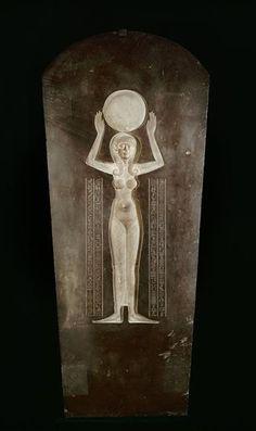 Couvercle du sarcophage de Djedhor IVe siècle avant J.-C. Acquis en Égypte par Champollion grauwacke
