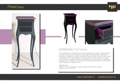 Bedside table with wood, silicone, plexiglas and led lighting. By atelier myArtistic www.myartistic.it
