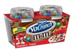 YoCrunch Strawberry Yogurt with M&M's®, (Pack of Kids Yogurt, Yogurt Cups, Cheap Girls Shoes, Candy Drinks, Milk Ingredients, Chocolates, Kids Math Worksheets, Low Fat Yogurt, Snack Recipes