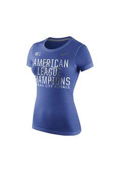 Kansas City Royals Nike T-Shirt - Royals Royal American League Champions Short Sleeve Tee