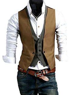 Men's Casual Slim Fit Top Designed Skinny Dress Waistcoat Vest ideal4dress http://www.amazon.com/dp/B00MFL0TXK/ref=cm_sw_r_pi_dp_WgKGub1YRRQGN