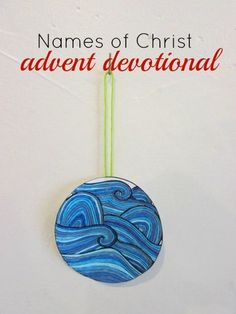 Beautifully hand drawn ornaments representing 24 different names of Jesus Christ. Study one each day of advent to help your family center Christmas on Christ.