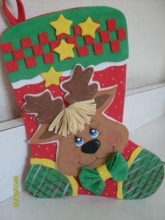 Benim Fofuchas 2012 Artfoamicol: Köpüklü Noel çorapları, kauçuk-eva, yeni modeller foami artfoamicol