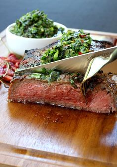 Grilled Steak with Spicy Kale Chimichurri Sauce, healthy dinner done right! #ad #betterforyou #stopandshop