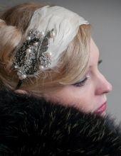 Www.sheenaholland.com Bridal Headbands | Wedding headbands | headband | White | feather | headwear| Bridal | Vintage | Tiaras | Bridesmaid | Lace | Leather | Antique | Headband |
