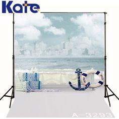 5*6.5Ft(150Cmx200Cm)Kate Beach Photography Backdrops Clouds Sea Backdrop Photography Baby Background Photo Studio Background