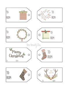 Printable gift tags | Use these cute printable gift tags to decorate your gifts this year! | www.thirtyhandmadedays.com