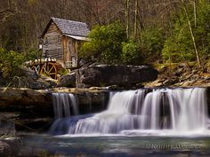 Falls, Grist Mill at Babcock State Park in the New River Gorge area of West Virginia by (Kathy Weaver) West Virginia Waterfalls, Places To Travel, Places To See, New River Gorge, Le Moulin, Camping Hacks, Outdoor Camping, Amazing Nature, Vacation Spots