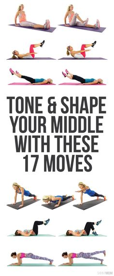 These moves will help slim down your middle!