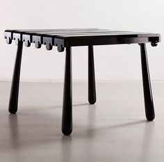 Jean Royère; Lacquered Wood 'Quille' Table, c1950.