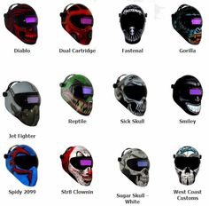 Coolest welding masks I've seen!