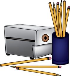 Pencils Clipart Image - Pencils and Pencil Sharpener